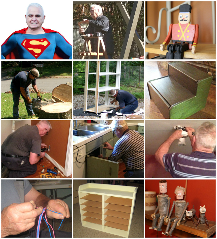 My Dad Is Just Like Superman Collage