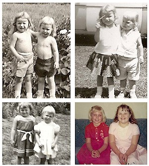 Nancy and her Cousin Lori Lynn
